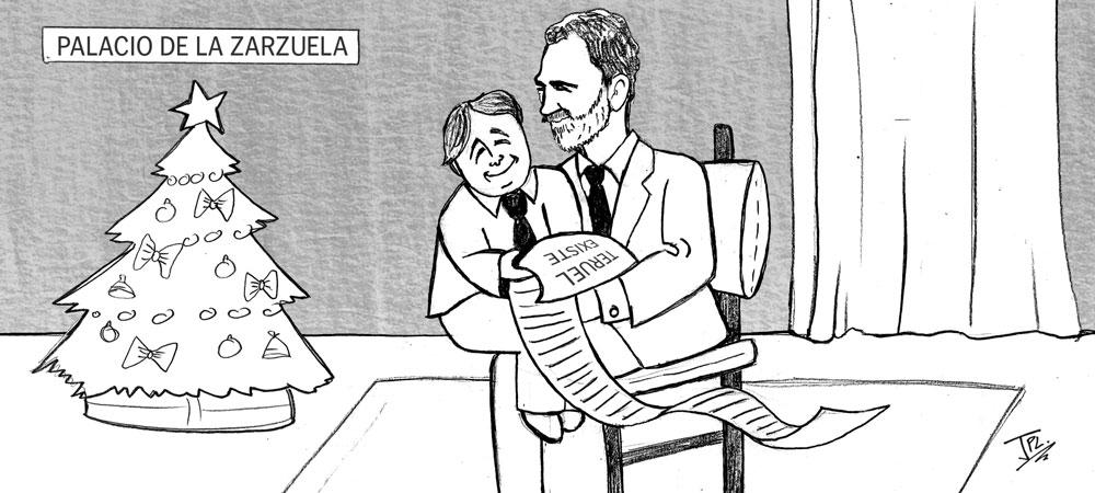 Humor gráfico - Teruel Existe - Felipe VI