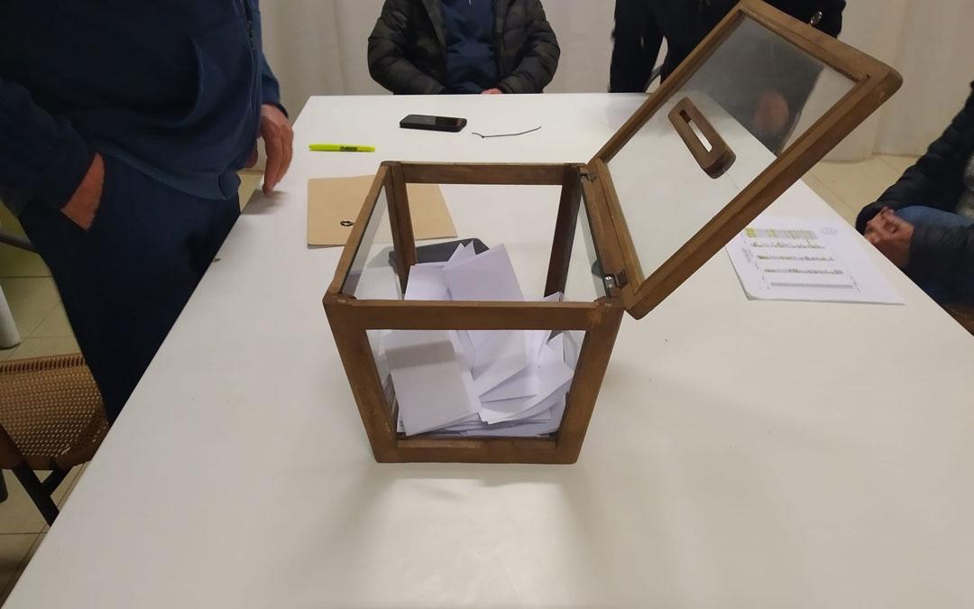 Urna en la que se recogieron los votos durante la votación del pasado 8 de diciembre. / Roberto Lahoz