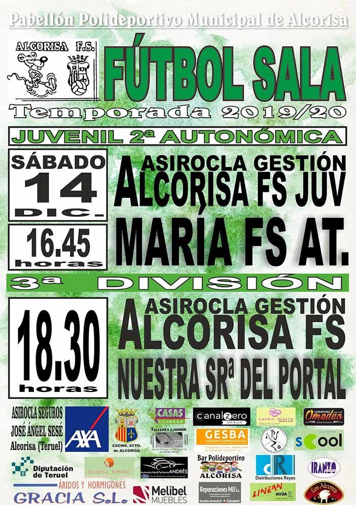 Agenda deportiva del fin de semana 14-15 diciembre en Alcorisa