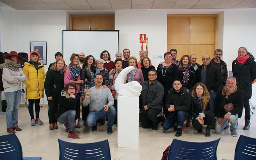 Donación de 'Scia', obra que Daniela Giglio realizó en una estancia en Albalate. / L. C.