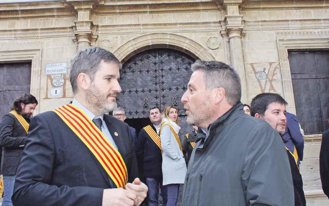 El alcalde y el consejero ayer durante la inauguración de las obras