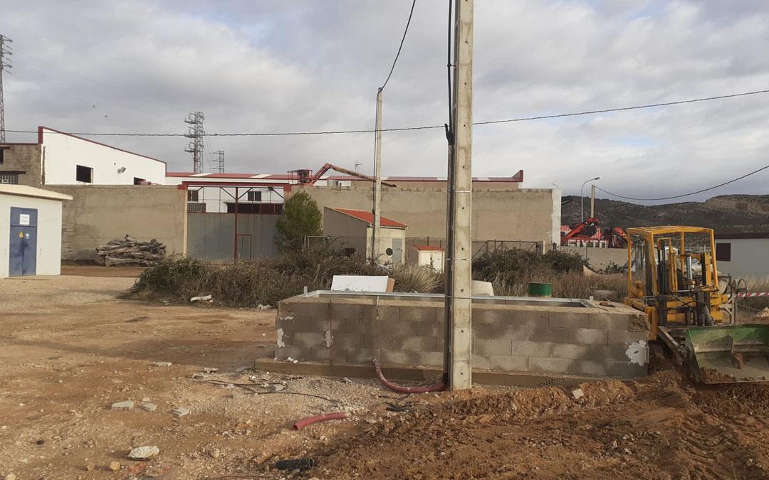Obras en el pozo de La Estación de Andorra esta semana