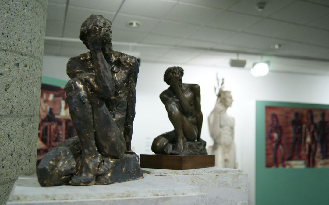 Detalle de la exposición 'Spiritvus Classicvs' en la UNED de Barbastro. / B. Severino