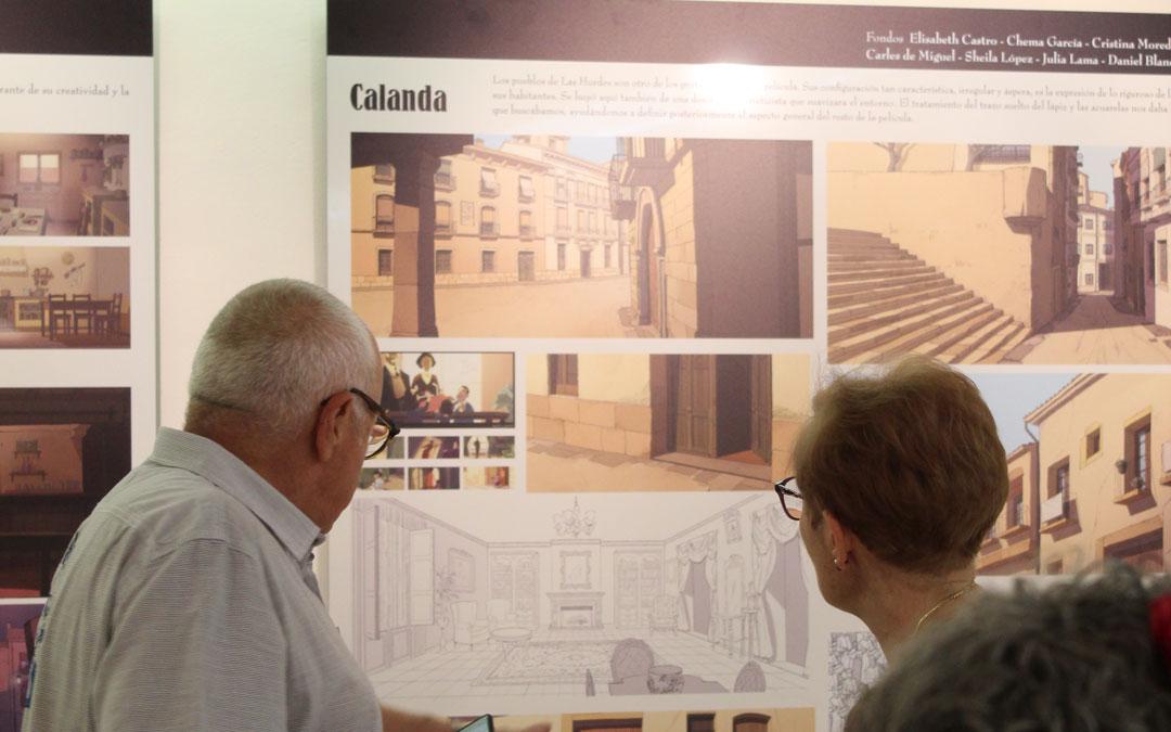 Calanda, que aparece en 'Buñuel en el laberinto de las tortugas', ocupó un espacio destacado en la exposición en el CBC durante el Festival. / B. Severino