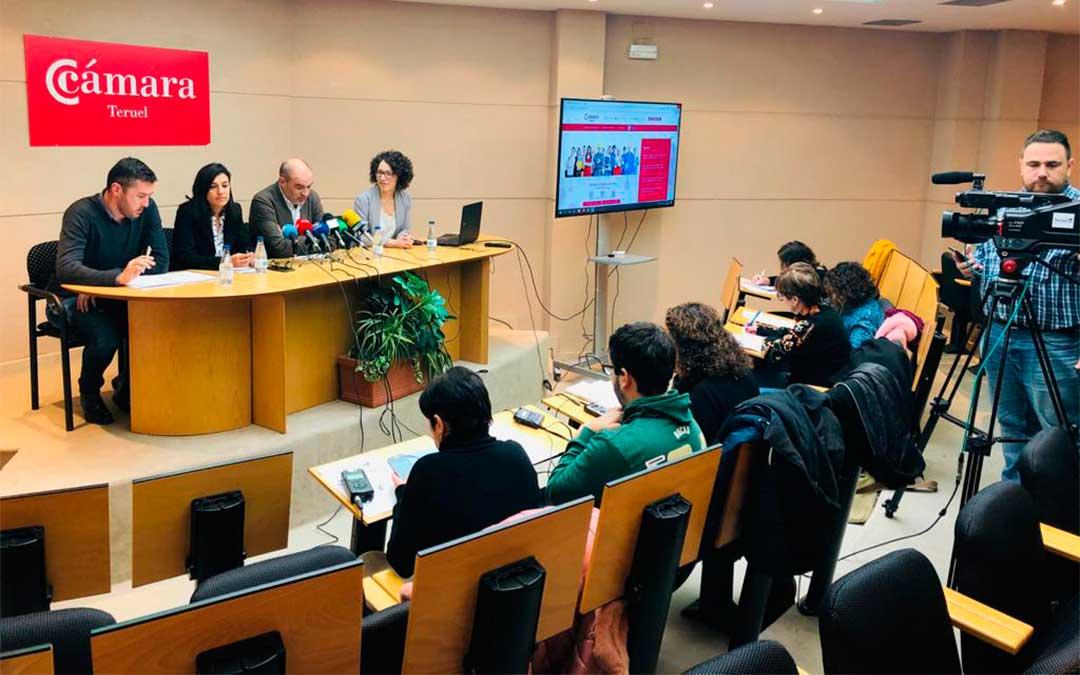 Presentación de la nueva web de la Cámara de Comercio de Teruel./ Cámara de Comercio