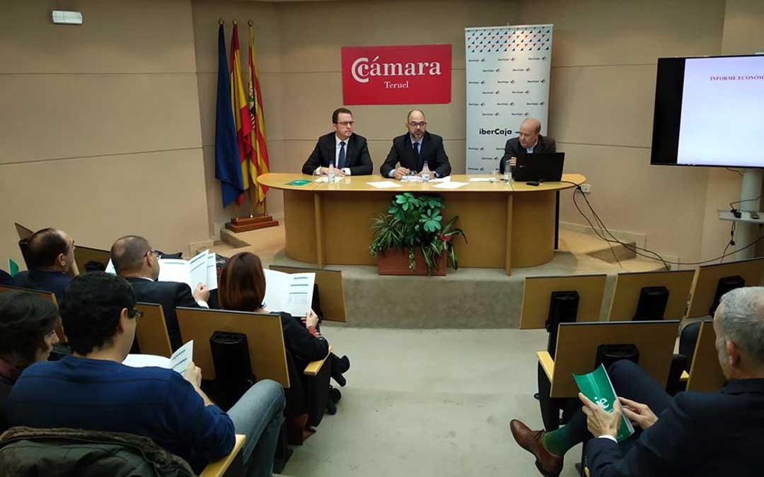 Presentación del informe económico de Aragón 2018 con los datos y previsiones de Teruel a cargo de Marco Sanso / Cámara