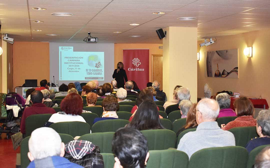 Cáritas agradece el apoyo y trabajo de los voluntarios de Caspe