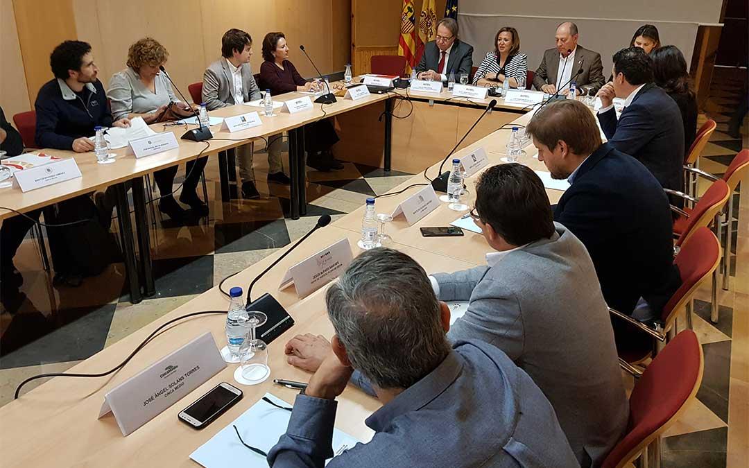 Mayte Pérez preside el Consejo de Cooperación Comarcal./ DGA