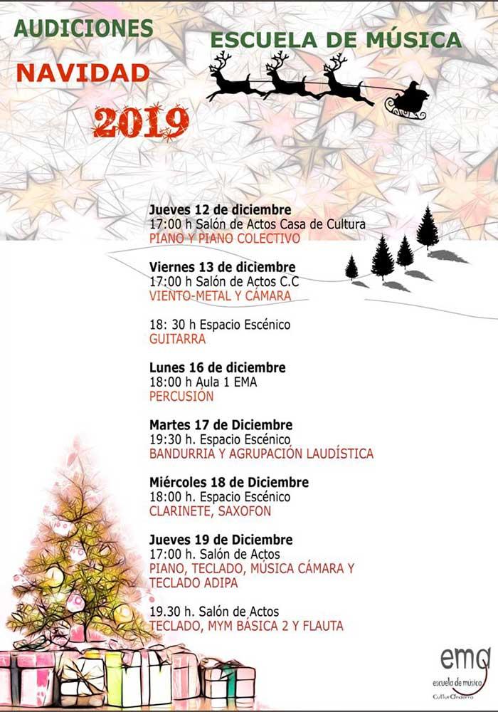 Audiciones de la Escuela de Música de Andorra - Navidad 2019