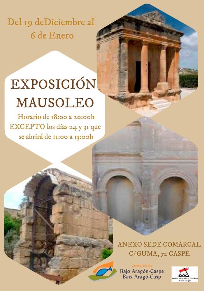 Exposición Mausoleo de pinturas y esculturas en Caspe