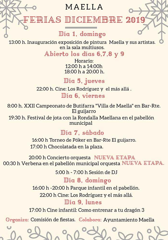 Ferias de diciembre en Maella