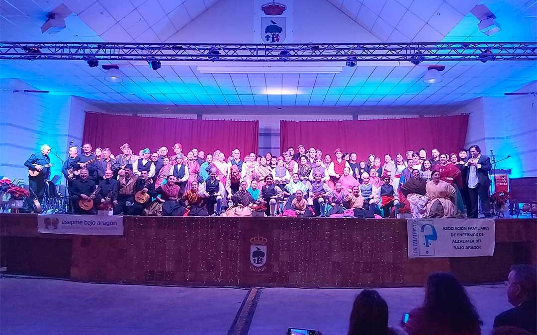 Festival de Jota a beneficio de ASAPME celebrado en el Pabellón de fiestas de Calanda a finales de 2019. Uno ejemplo de los muchos eventos profesionales y sociales suspendidos. /L.C.