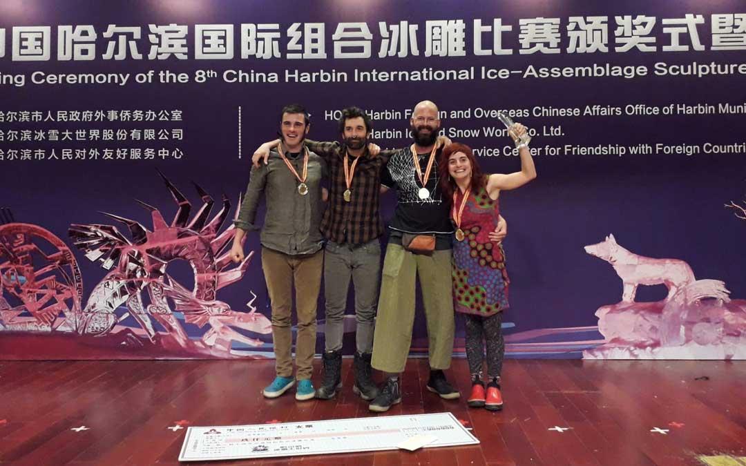 El equipo ganador en China estaba conformado además de por Lluís Ribalta, por Fátima Naranjo, Roger Ferralla y Roc Solé.