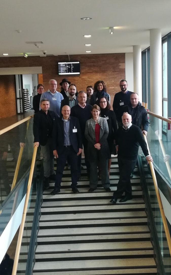 Parte del grupo de trabajo en Worms con Marquesán y Conte, de la delegación de Híjar, en el centro. / L.C.
