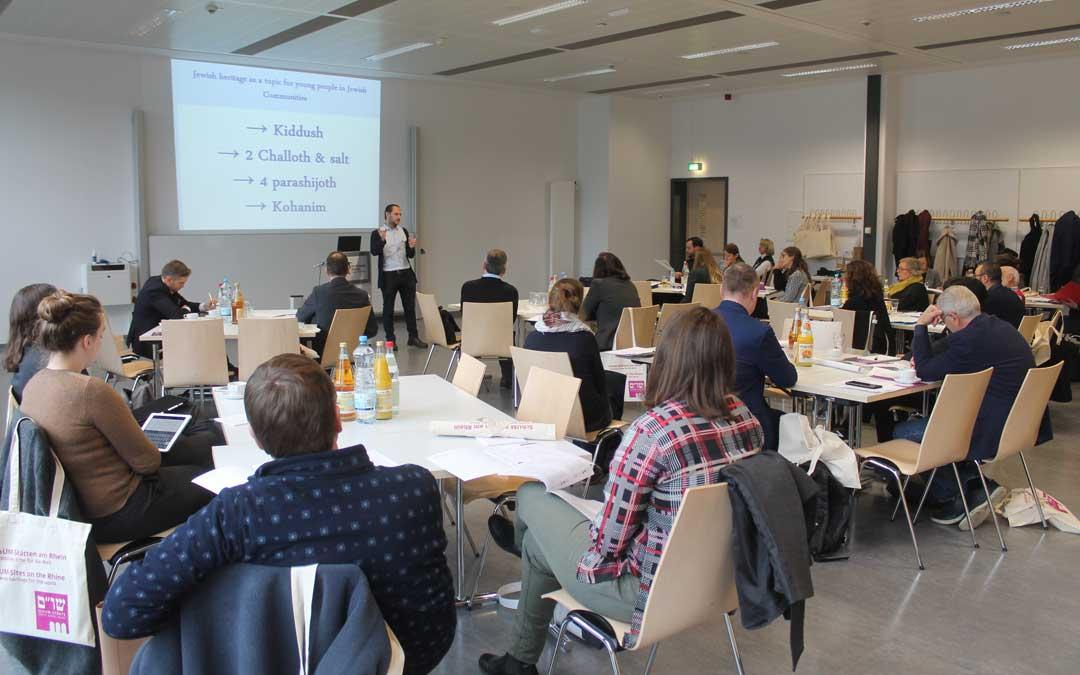 Una de las sesiones de trabajo en la ciudad alemana de Worms a final de noviembre. / Michael Mail (Foundation for Jewish Heritage)