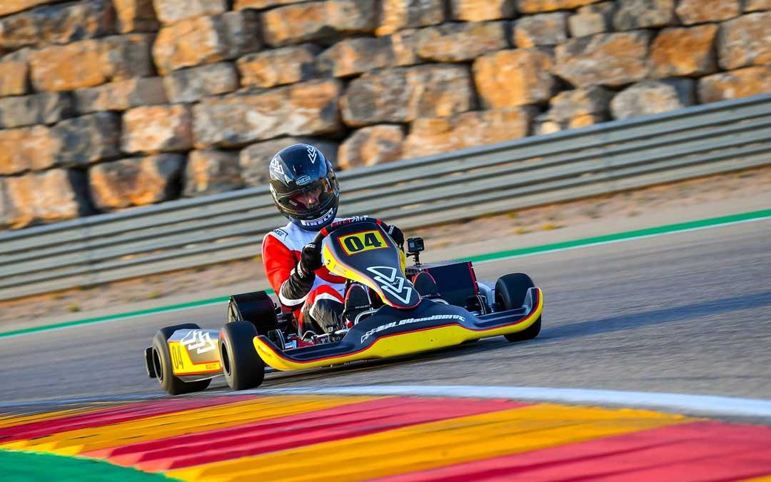 El karting eléctrico diseñado por Play and Drive en el circuito de velocidad de Motorland Aragón