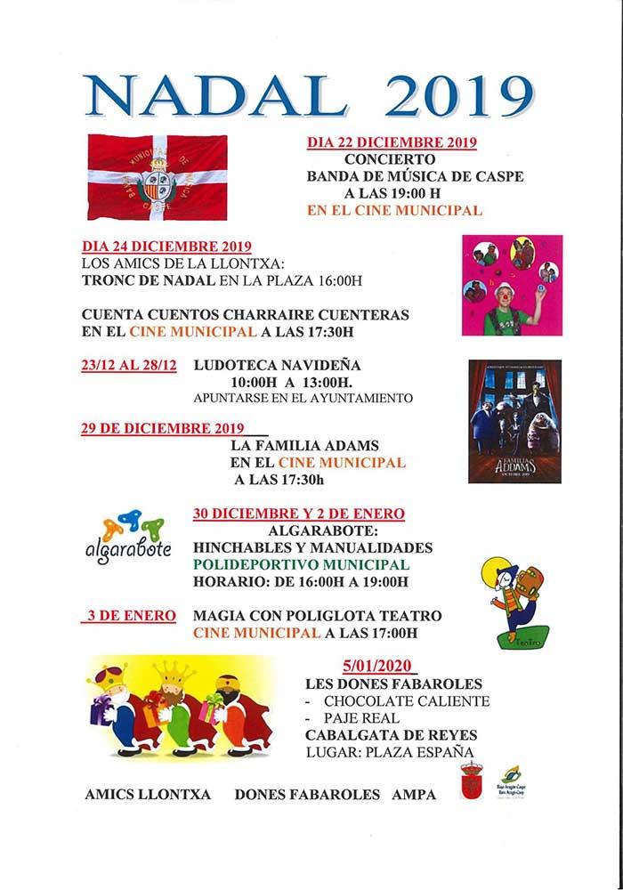 Nadal 2019 en Fabara