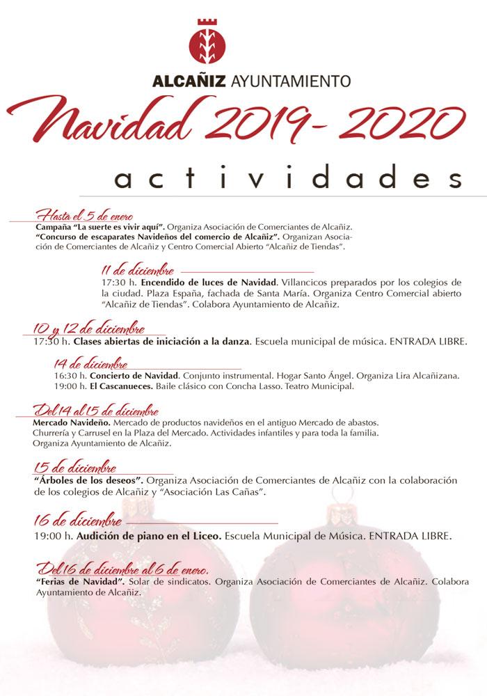 Actividades Navidad 2019-2020 en Alcañiz