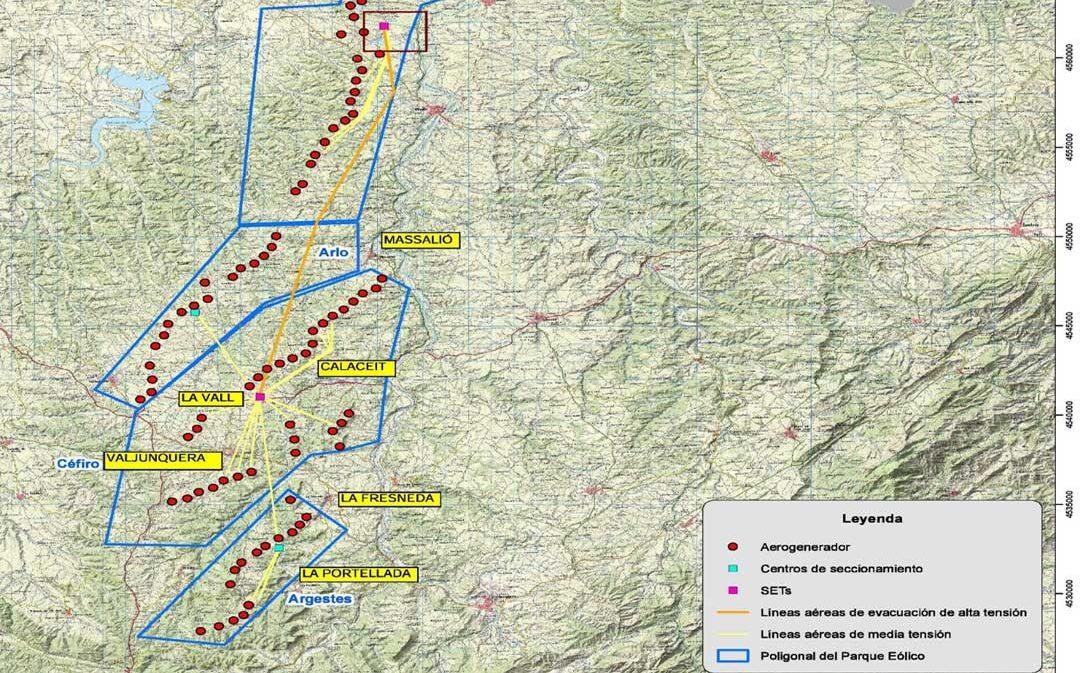 Polémica en el Matarraña por la propuesta de construcción de 4 parques eólicos