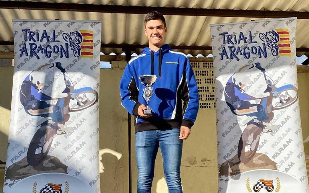 El valderrobrense Raúl Guimerá, campeón de Aragón de trial