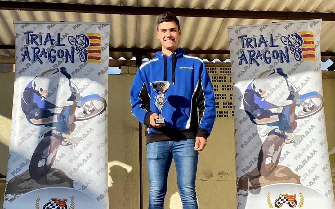 El piloto de Valderrobres revalida el título de campeón de Aragón de trial