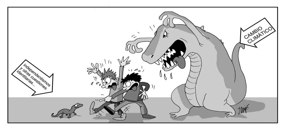 Humor Gráfico cambio climático - independentismo cataluña