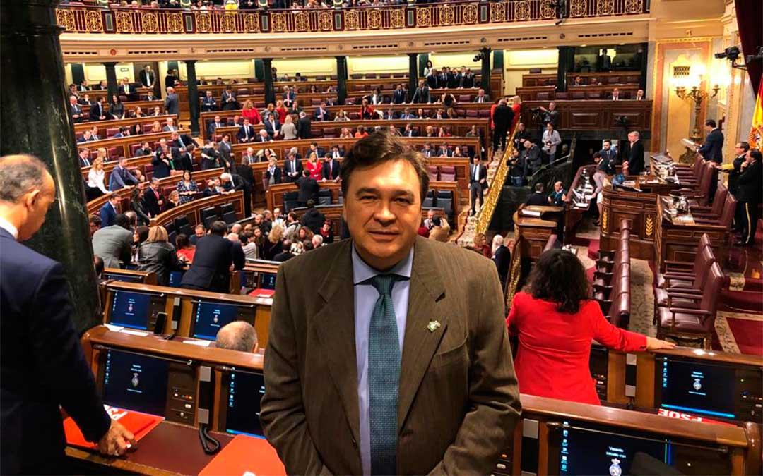 Tomás Guitarte, diputado por Teruel Existe, en el Congreso / Teruel Existe
