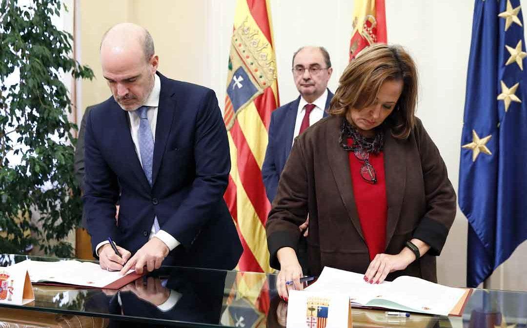 El Gobierno Central y Aragón firman el convenio del Fondo de Inversiones de Teruel