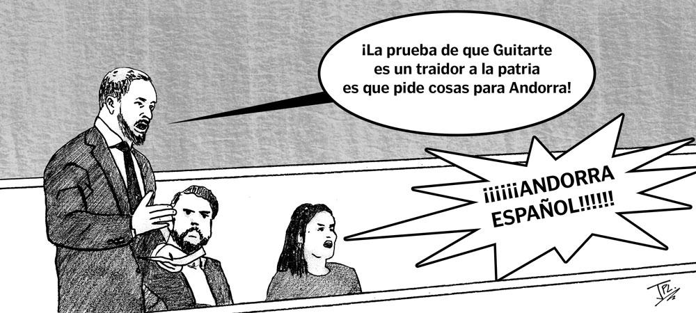 Humor gráfico. Teruel Existe. Congreso. Vox. Abascal