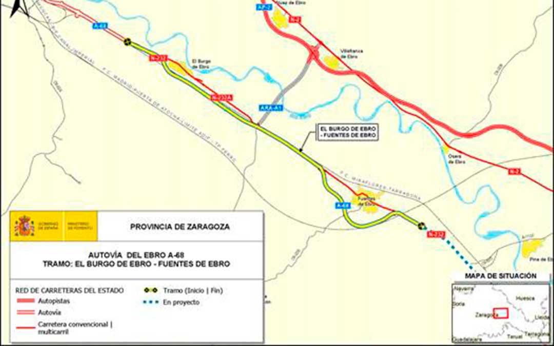 Proyecto de la autovía A-68 entre El Burgo de Ebro y Fuentes de Ebro./ Gobierno de España