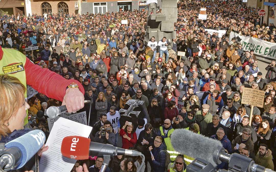 El 31 de marzo se manifestó en Madrid la 'España vaciada'.