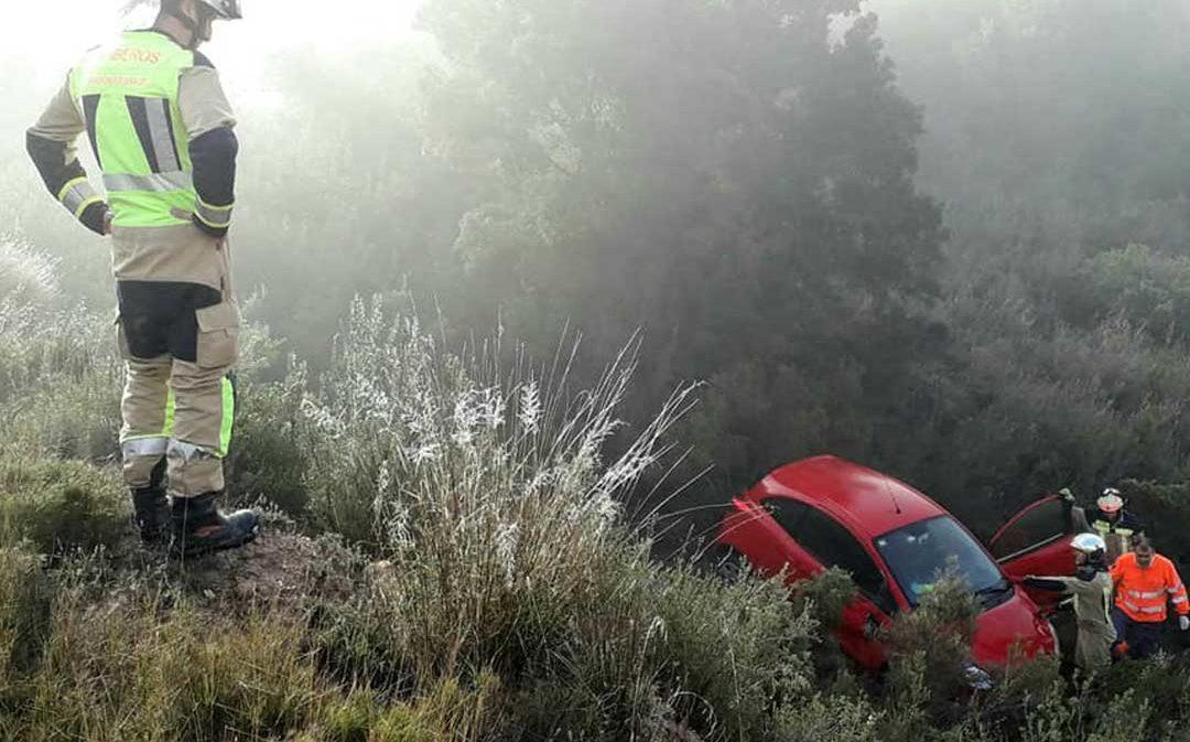 Muere un hombre al caer con su coche por un desnivel de 10 metros en Nonaspe