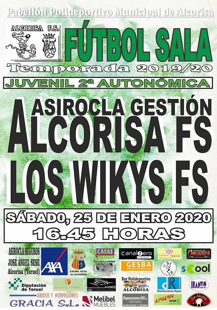 Agenda deportiva en Alcorisa 25-26 de enero