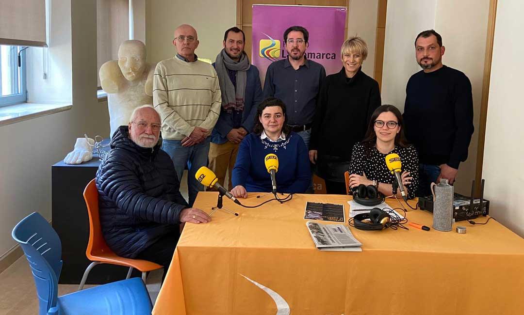 Los invitados en el programa especial emitido desde Albalate del Arzobispo