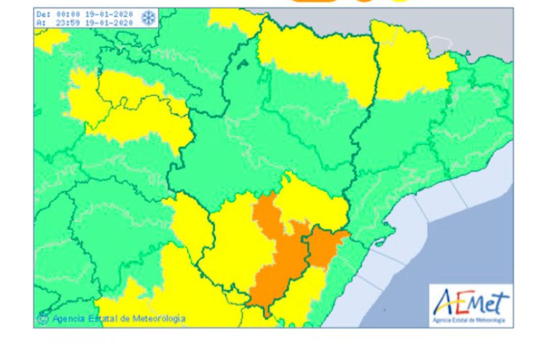 El temporal de nieve puede acumular más de 50 centímetros en zonas montañosas del Bajo Aragón Histórico