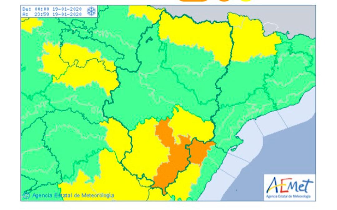 Avisos por nieve en Aragón activados por la Agencia Estatal de Meteorología.