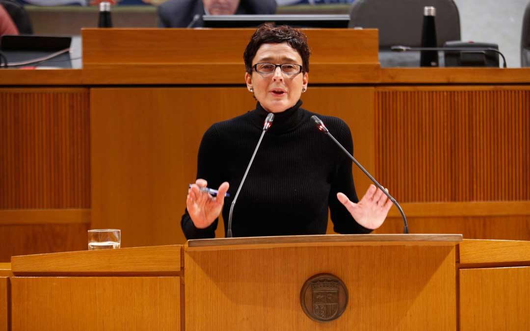 La diputada del PP, Ana Marín, este lunes en las Cortes