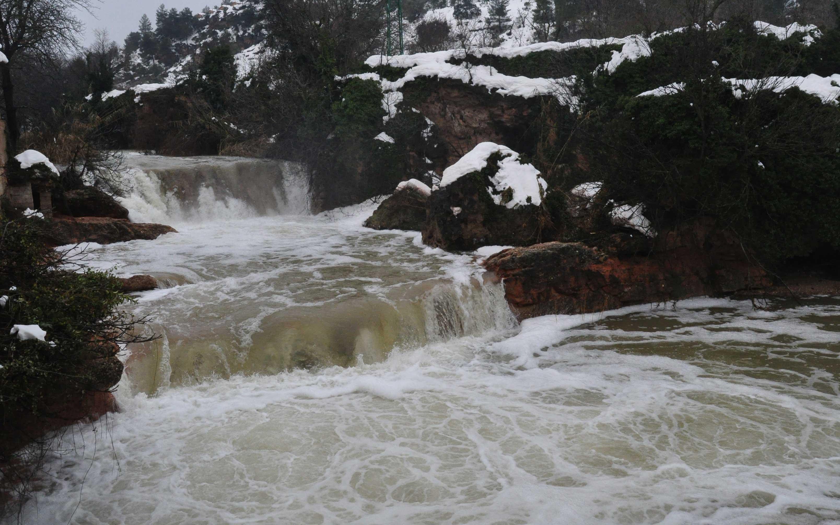 El pico de la riada en Beceite tuvo lugar durante la noche del martes al miércoles.
