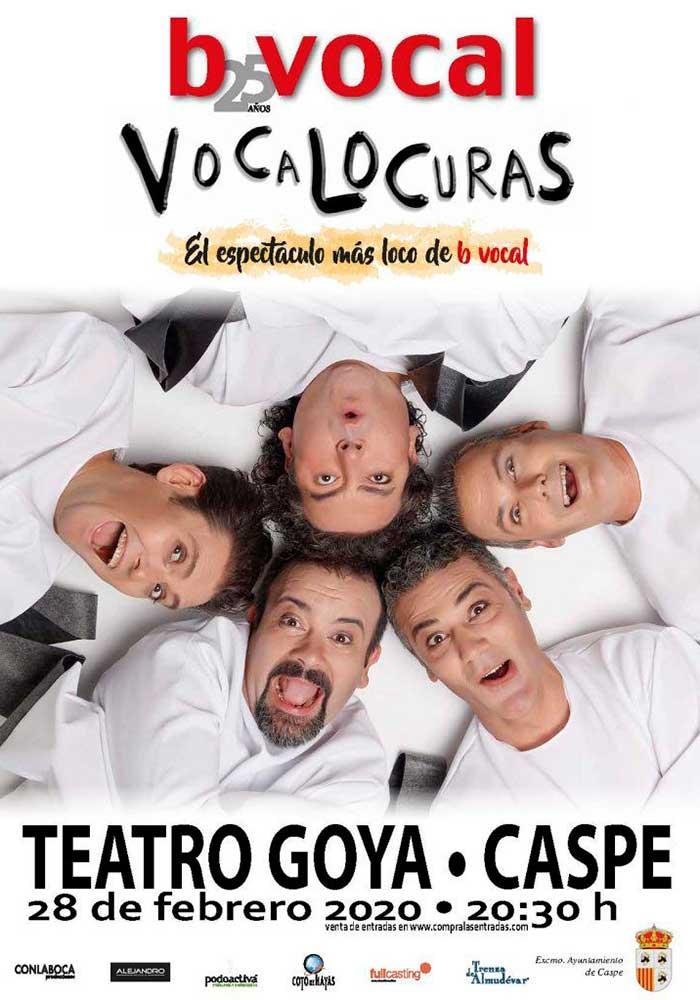 VOCALOCURAS DE BVOCAL en el Teatro Goya de Caspe