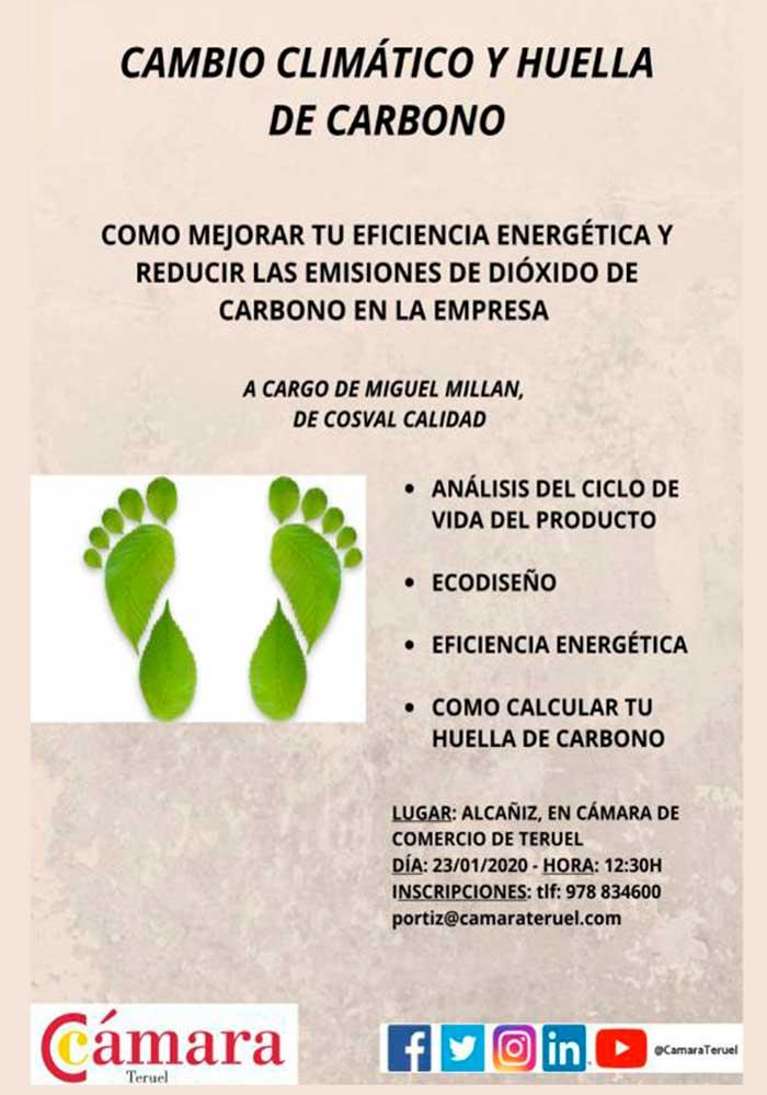 Charla sobre el cambio climático y huella de carbono en Alcañiz