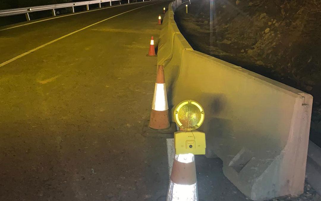 Tramo de carretera con la señalización./DGA