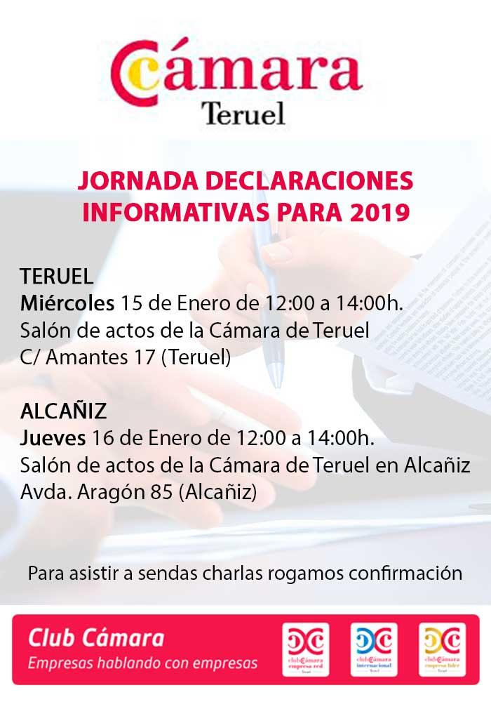 Jornada de declaraciones informativas para 2019