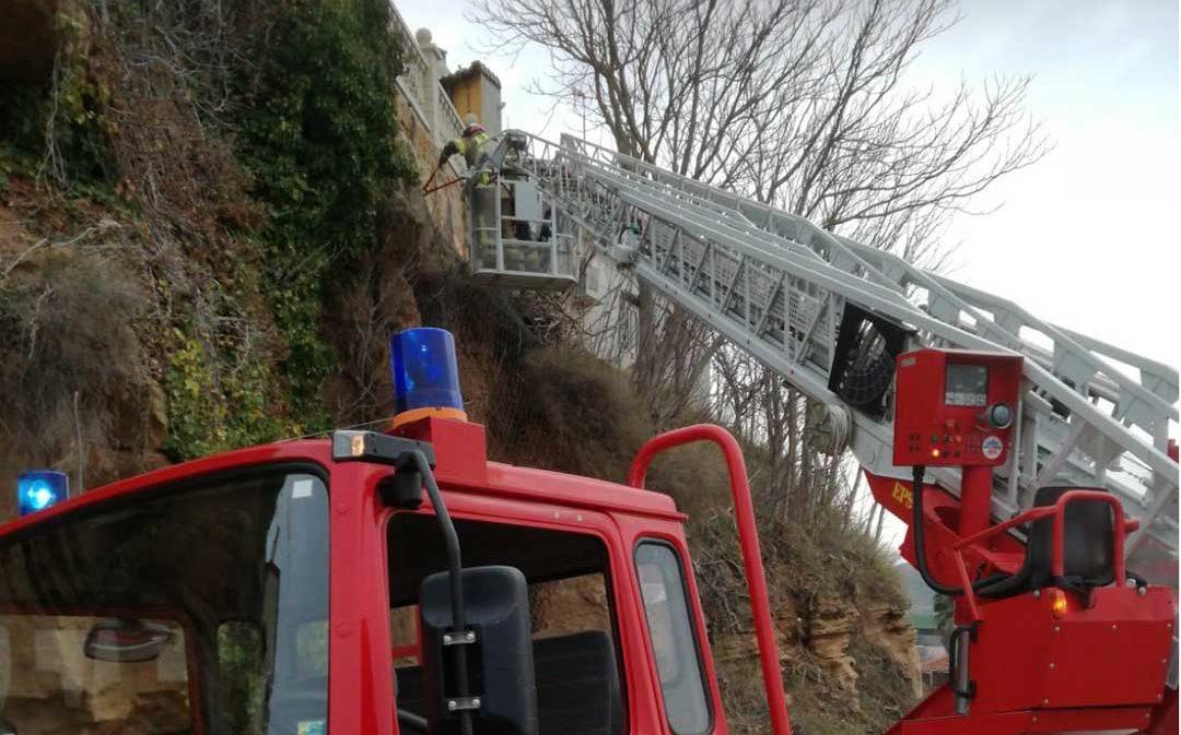 Continúan los derrumbes en Alcañiz y Peñarroya de Tastavins por el temporal