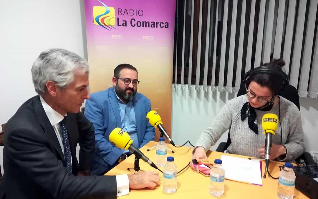 Adolfo Suárez-Illana y Óscar Soriano durante el programa especial./ L.C.