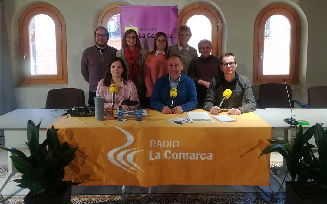 Invitados al programa especial emitido desde el Ayuntamiento de Alcorisa./ L.C.