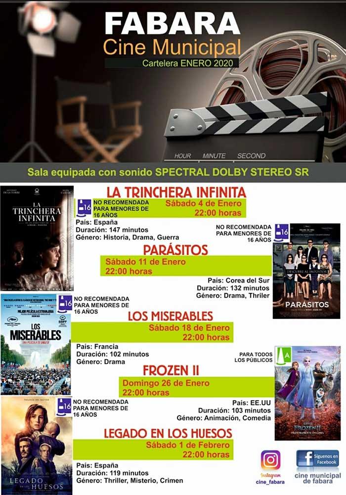 Cartelera de cine en enero en Fabara
