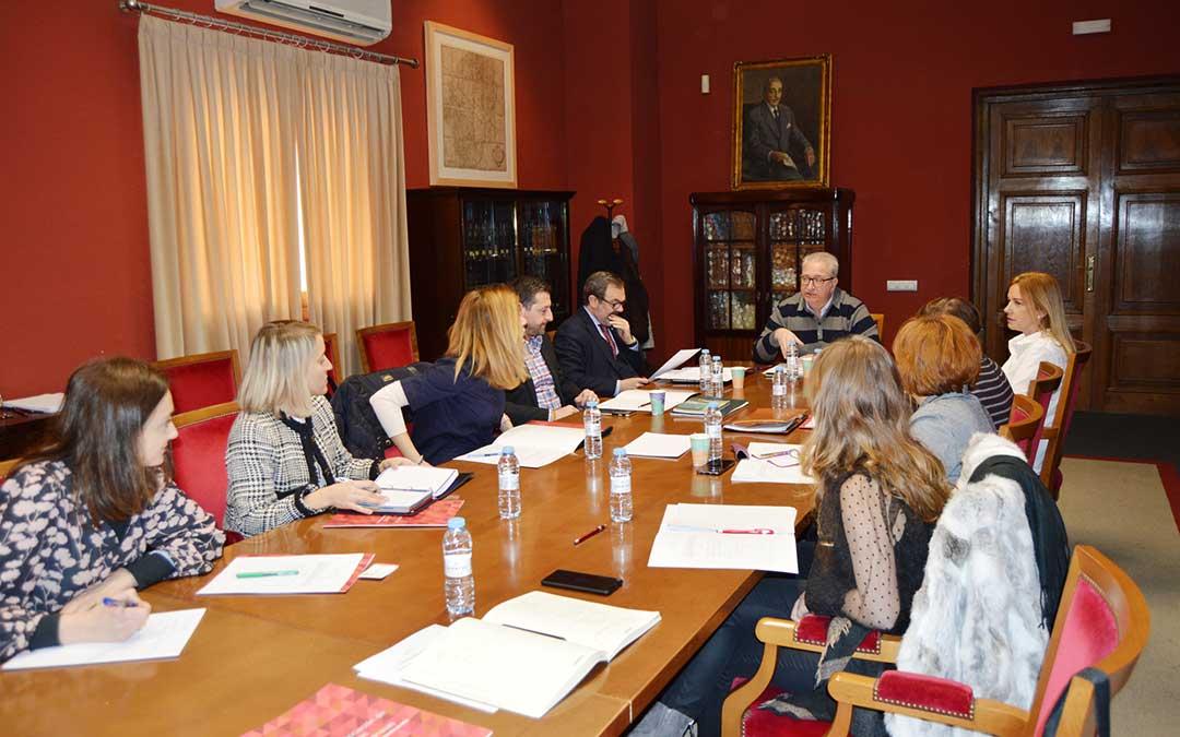 Junta directiva de la Asociación de Ferias Aragonesas celebrada esta mañana en la Cámara de Comercio de Zaragoza.