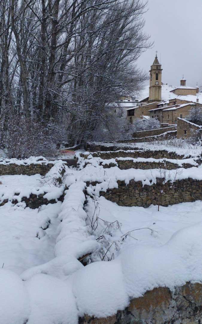 Nieve en Fortanete. / Carmen Dumitrescu