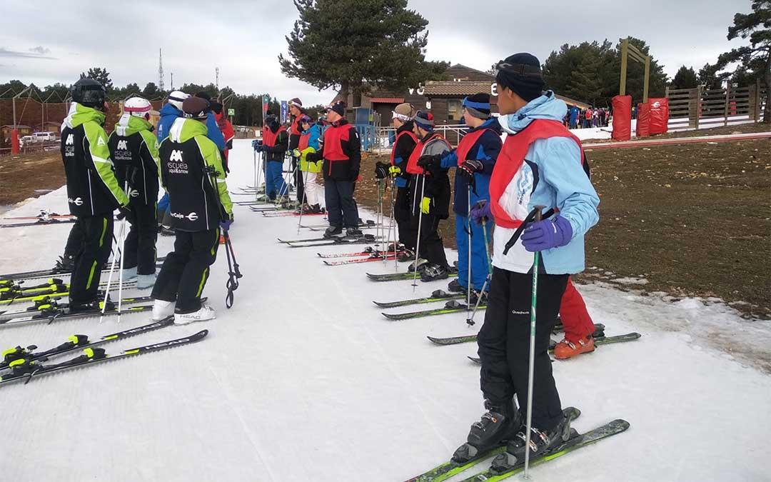 Los entrenamientos de esquí han sido individualizados./ Colegio Gloria Fuertes