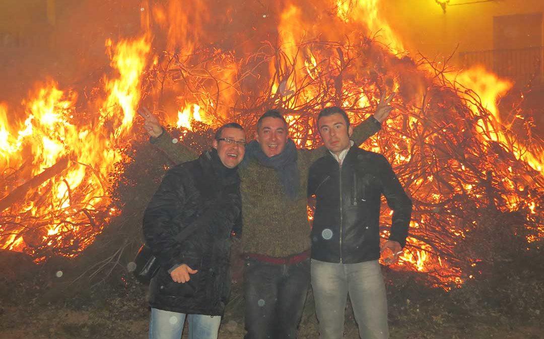 San Valero y San Antón en La Codoñera para calentar enero